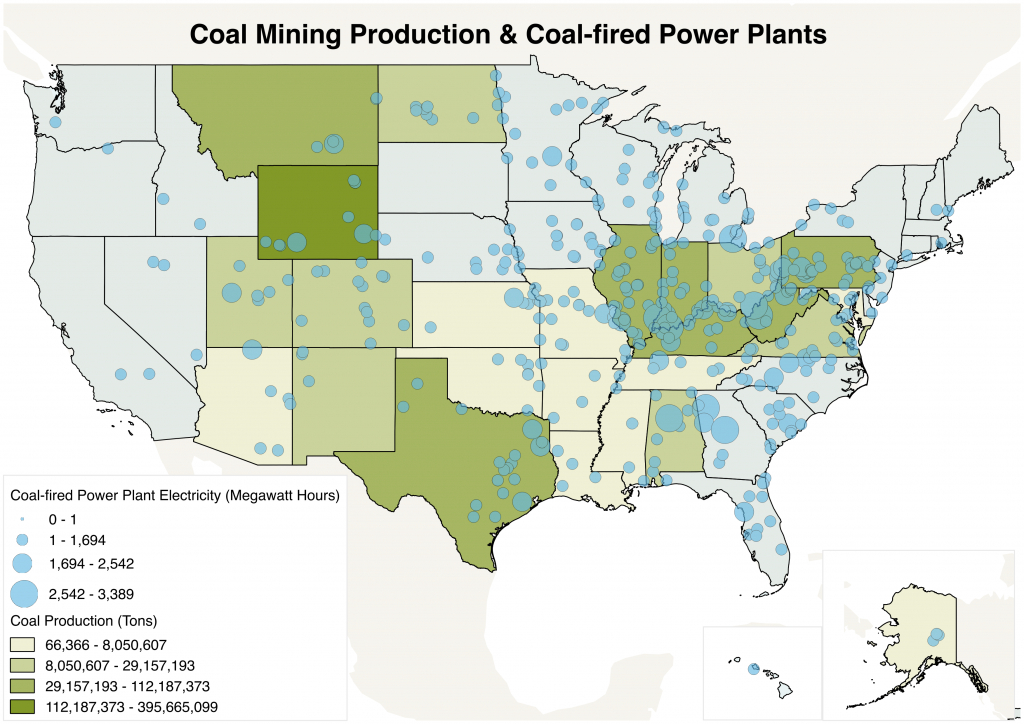 The Geography Of Coal In The U.s. | National Geographic Society - Power Plants In Texas Map