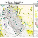 The Great California Shakeout   Delta Sierra Area   Sierra California Map