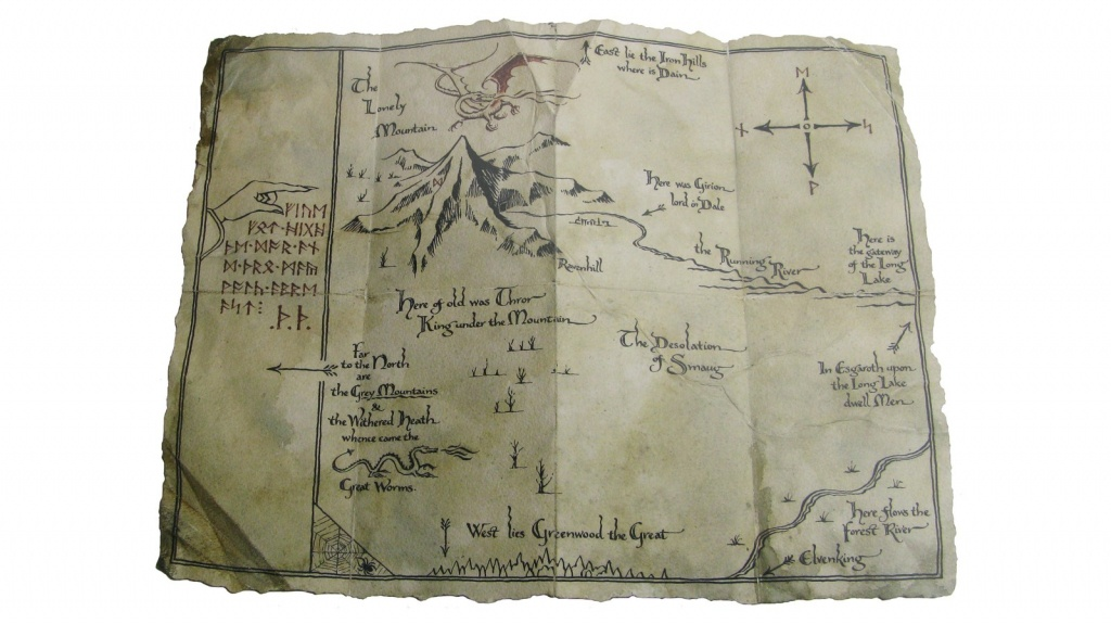 "The Hobbit 16"" Art Print: Thorin's Map   At Mighty Ape Australia - Thror's Map Printable"