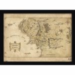 The Hobbit Middle Earth Map Framed Print (30X40) Homeware   Zavvi - Printable Map Of Middle Earth
