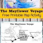 The Mayflower Voyage Free Printable Map Activity   | Education   Free Printable Map Activities