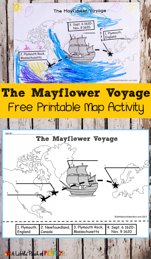 The Mayflower Voyage Free Printable Map Activity - | Education - Free Printable Map Activities