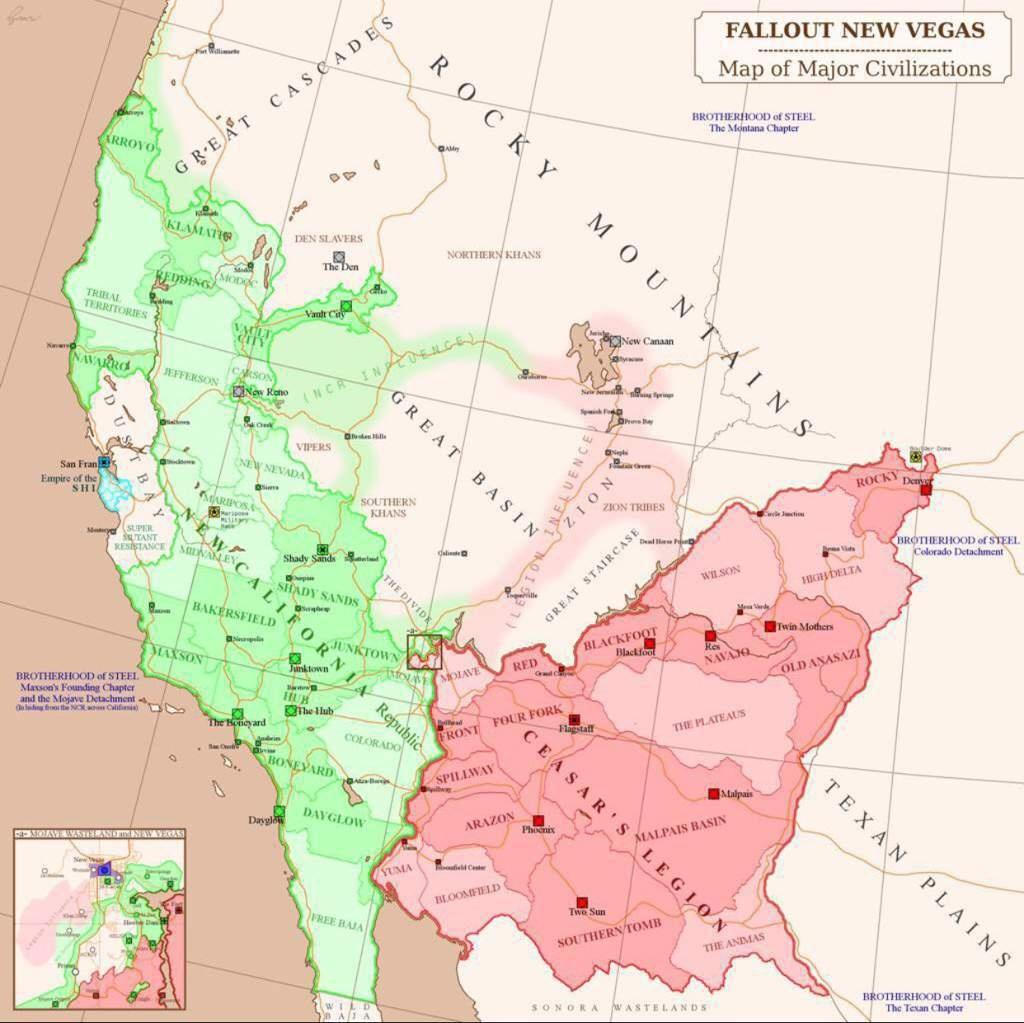 The New California Republic   Wiki   Fallout Amino - Map Of The New California Republic