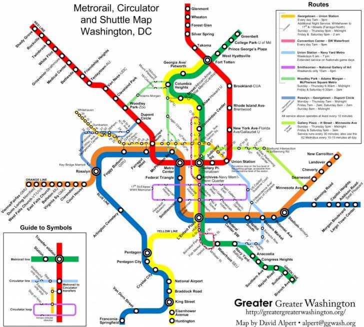 Printable Metro Map Of Washington Dc