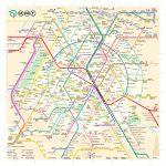The New Paris Metro Map   Printable Dc Metro Map