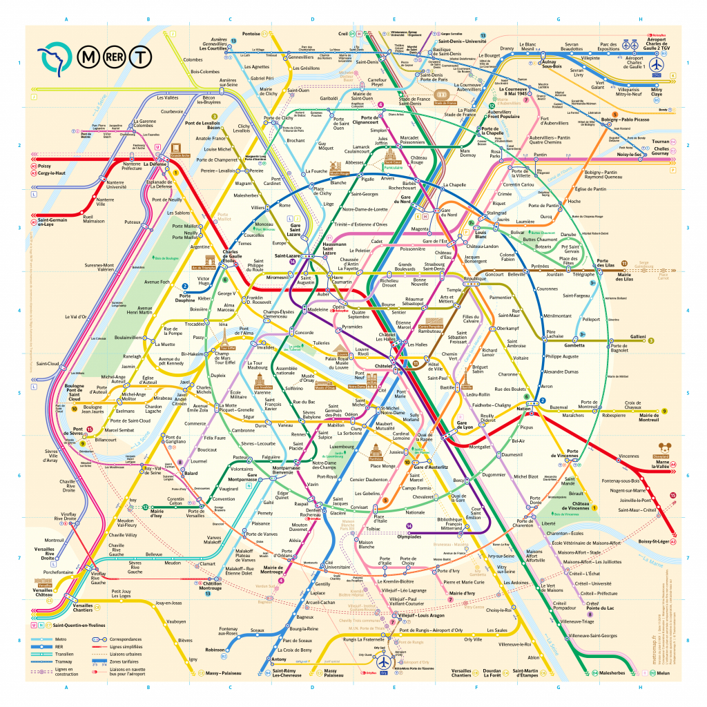 The New Paris Metro Map - Printable Metro Map