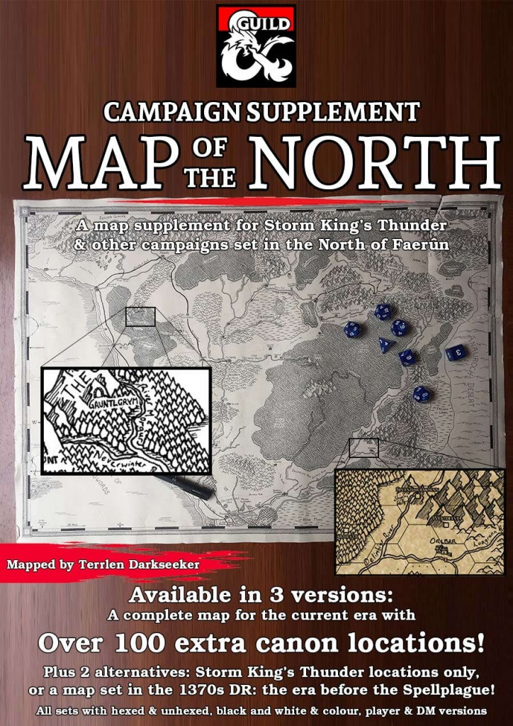 The North Campaign Map - Dungeon Masters Guild | Dungeon Masters Guild - Storm King's Thunder Printable Maps