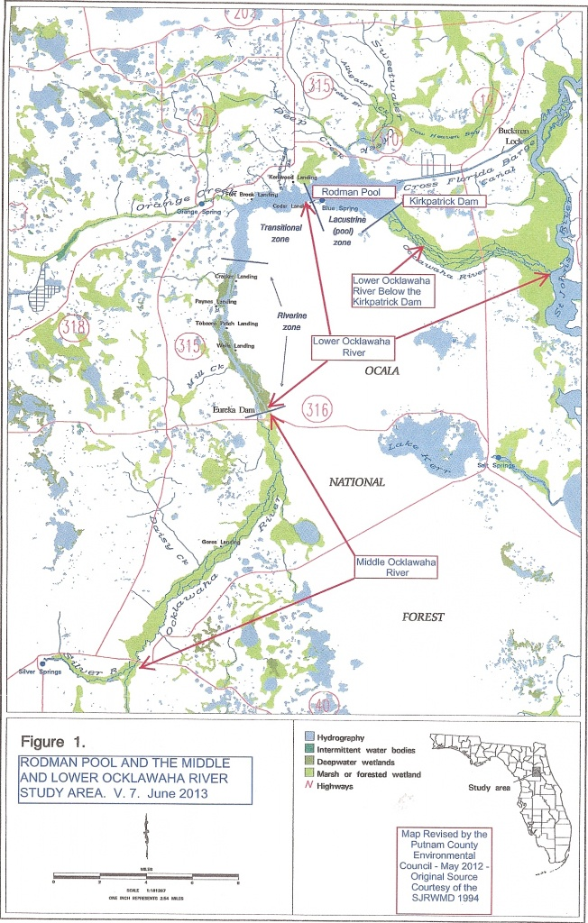 The Ocklawaha Ecosystem | Florida Defenders Of The Environment - Silver River Florida Map