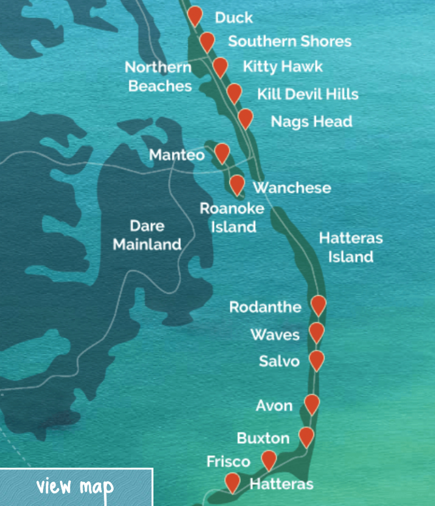 The Outer Banks Maps | Interactive Map - Printable Map Of Outer Banks Nc