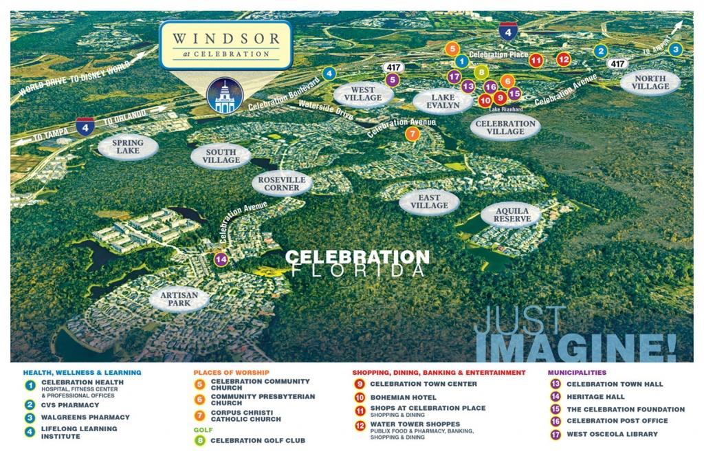 The Perfect Location For Senior Living   Windsor At Celebration - Celebration Florida Map