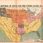 The Republic Of Texas And The United States In 1837 | Library Of   Republic Of Texas Map 1845