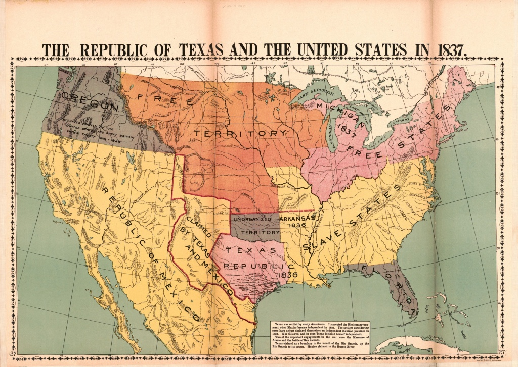 The Republic Of Texas And The United States In 1837 | Library Of - Republic Of Texas Map 1845