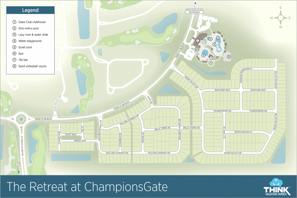 The Retreat At Championsgate | Vacation Rentals Near Disney - Champions Gate Florida Map