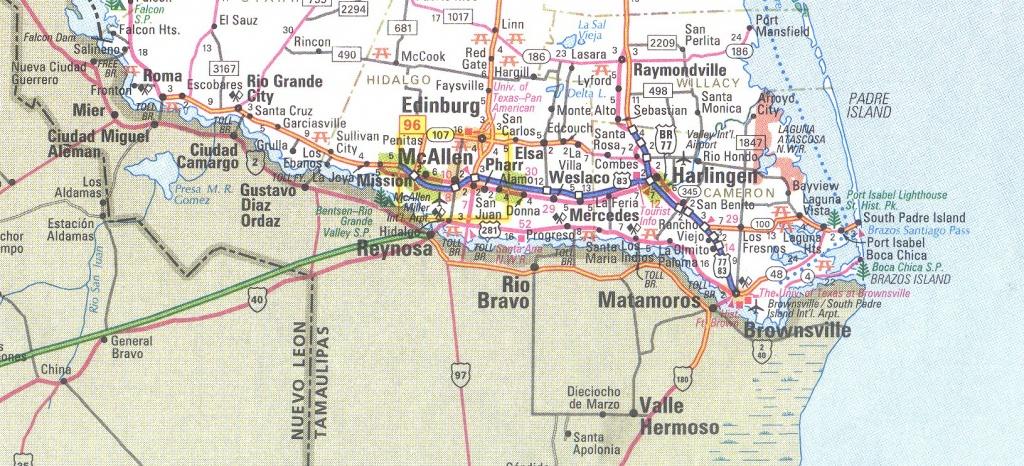 The Rio Grande Valley Texas Map - South Texas Cities Map
