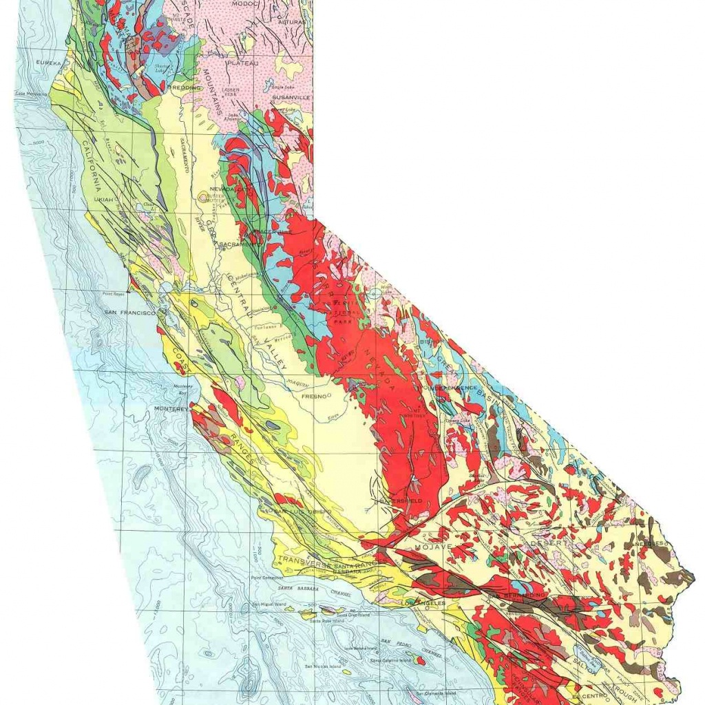 The San Andreas Fault In California - California Geological Survey Maps