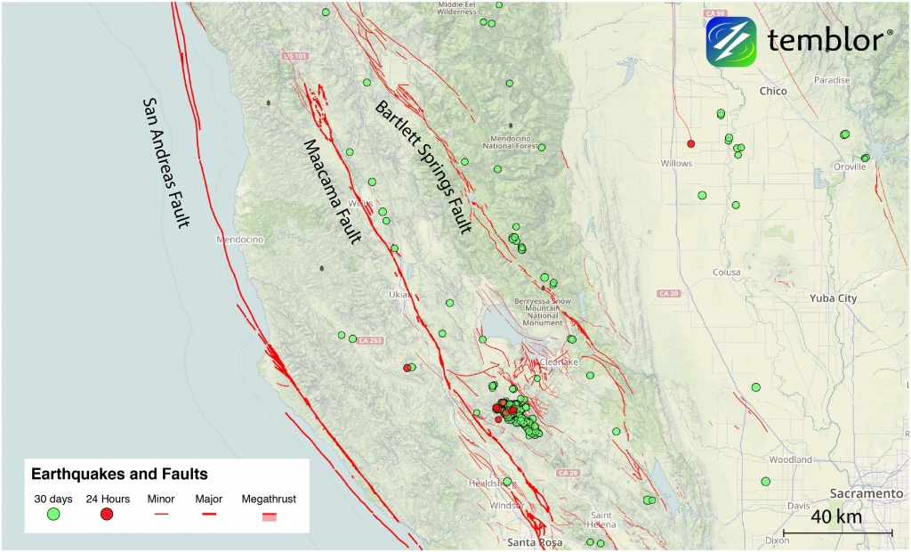 The San Andreas' Sister Faults In Northern California   Temblor - California Fault Lines Map
