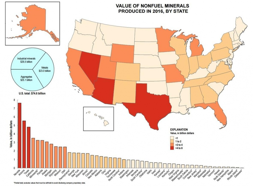 The Top 5 Mineral-Producing States - Gold Mines In Texas Map