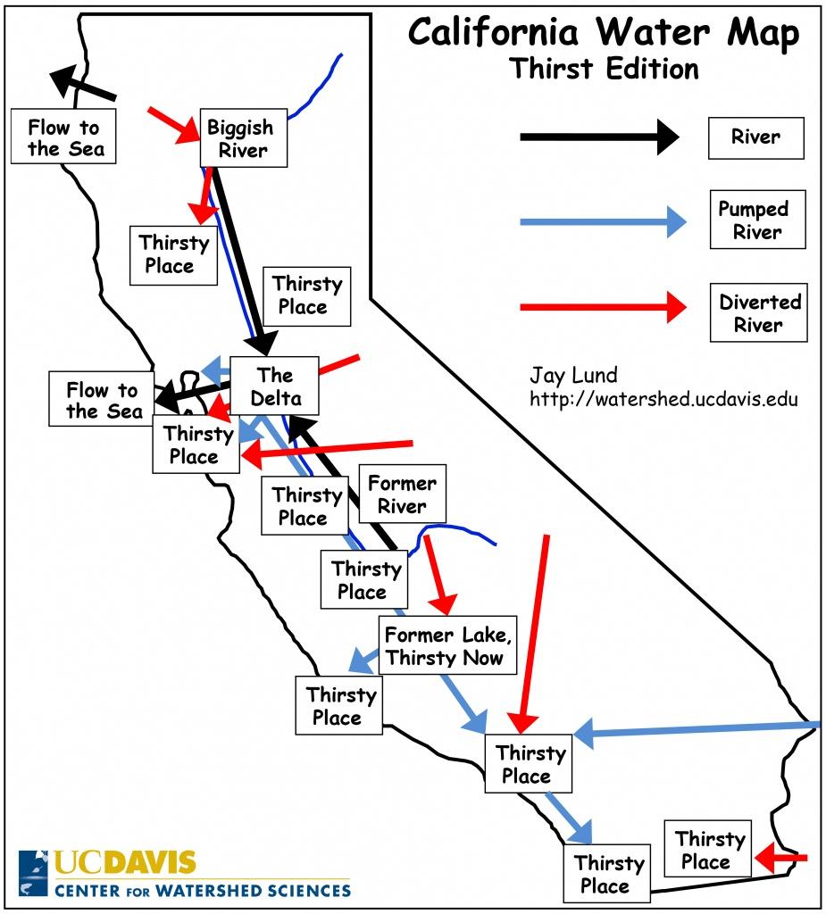 The Ultimate California Water Cheat Sheet   California Waterblog - California Water Rights Map