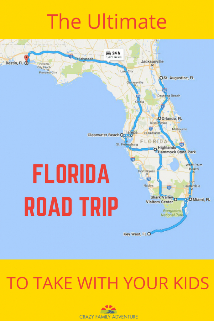 The Ultimate Florida Road Trip: 31 Places Not To Miss   Y Travel - Map Of Best Beaches In Florida