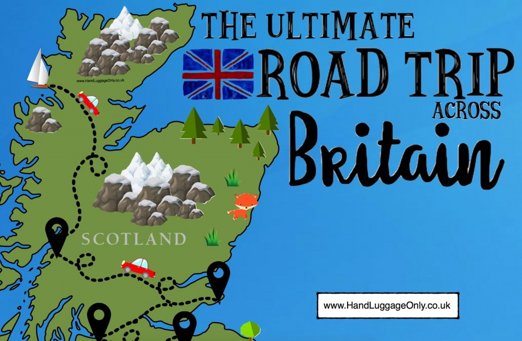 The Ultimate Road Trip Map Of 26 Places To See Across Great Britain - Printable Road Trip Maps
