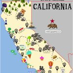 The Ultimate Road Trip Map Of Places To Visit In California   Hand   California Attractions Map