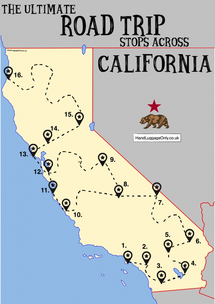 California Travel Map