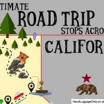 The Ultimate Road Trip Map Of Places To Visit In California - Hand - Road Trip California Map