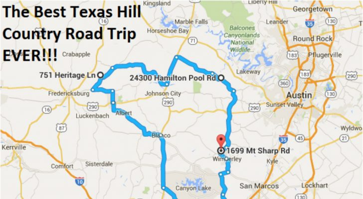 Texas Hill Country Map