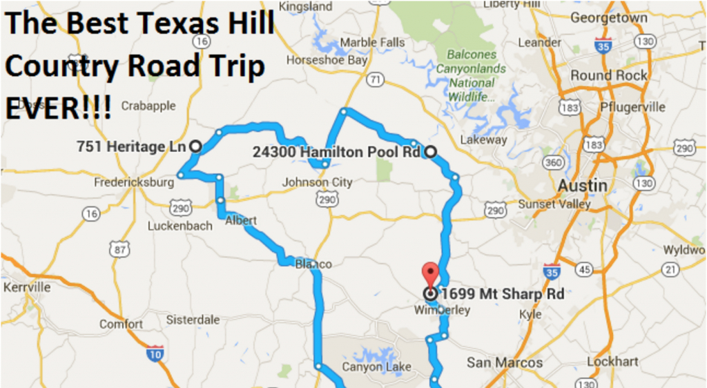 The Ultimate Texas Hill Country Road Trip - Texas Hill Country Map