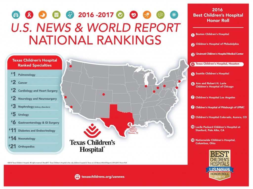 The Value Of Rankings – How Does Texas Children's And Other National - Texas Children's Hospital Map