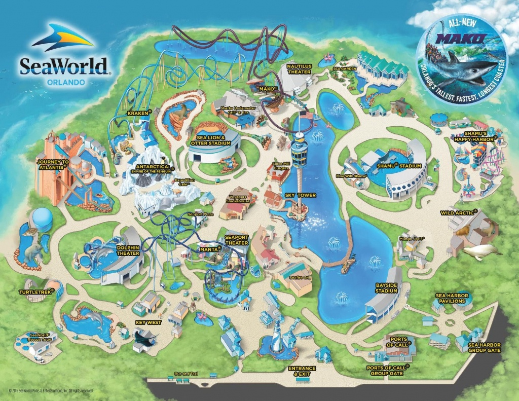 Theme Park & Attractions Map | Seaworld Orlando | Places I'd Like To - Seaworld Orlando Map Printable