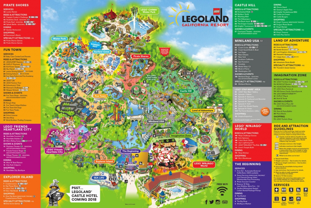 Theme Park Brochures Legoland California Resort - Theme Park Brochures - Legoland Printable Map