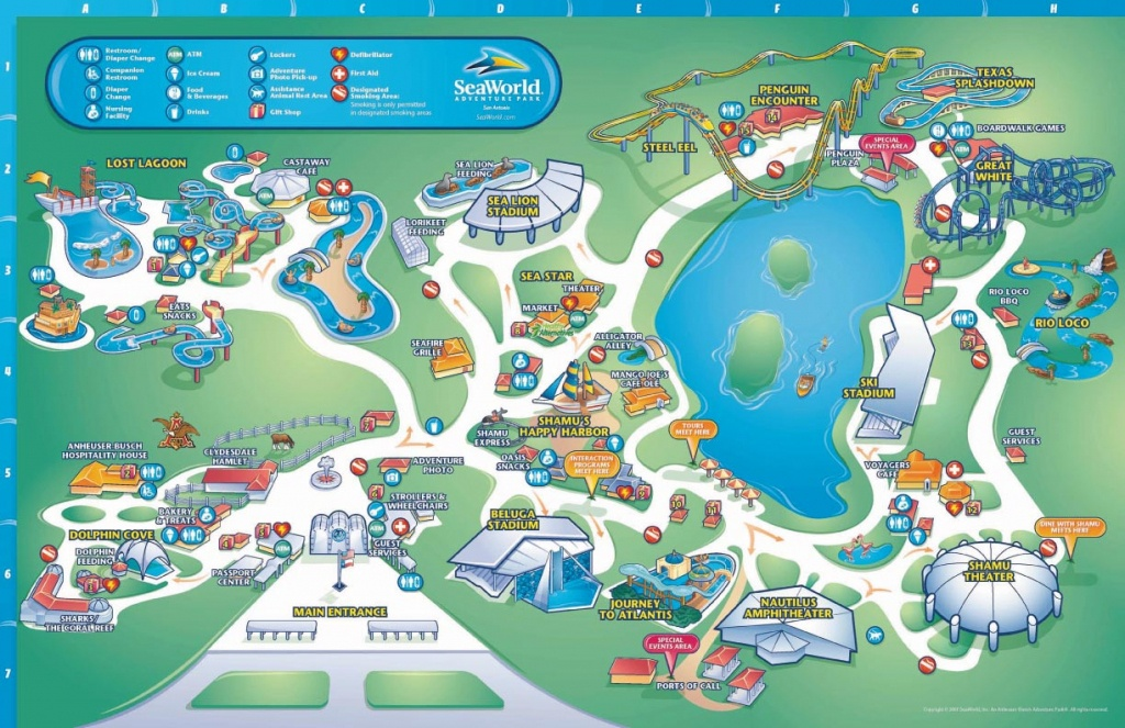 Theme Park Brochures Sea World San Antonio - Theme Park Brochures - Seaworld San Diego Printable Map