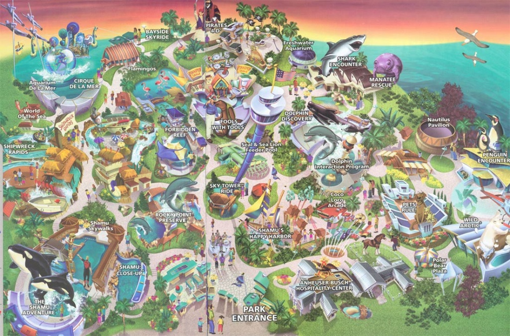 Theme Park Brochures Sea World San Diego - Theme Park Brochures - Printable Sea World San Diego Map