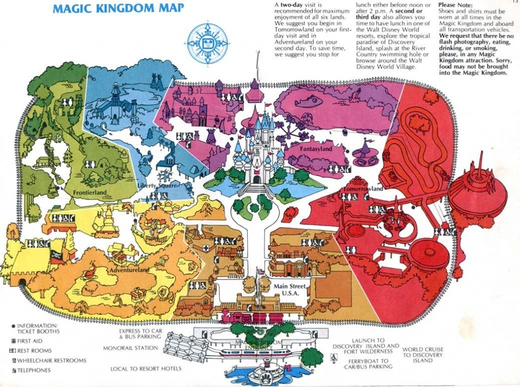 Theme Park Maps – Over The Years   Places I've Been   Disney Map - Magic Kingdom Orlando Florida Map