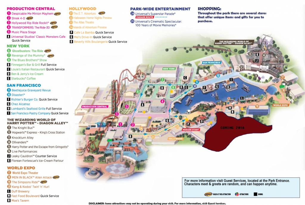 Theme Park Review • The Universal Orlando Resort Recreated On Roblox - Universal Studios Florida Park Map