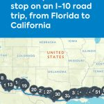 These Are The Coolest Places To Stop On An I-10 Road Trip, From - California To Florida Road Trip Map