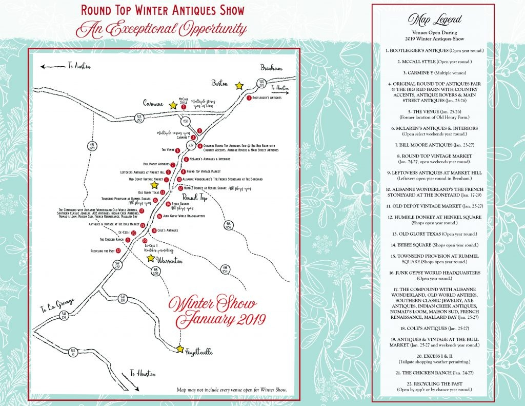 Things To Do In January - Round Top - Round Top Texas Map