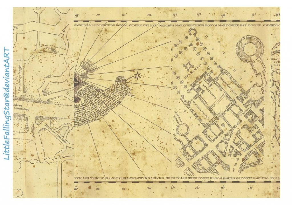 This Is A Copy Of The Marauders Map, 36 Scans Stitched Together In - Hogwarts Map Printable