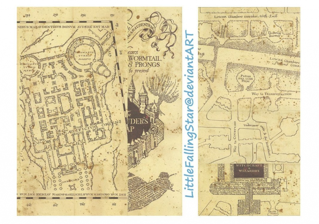 This Is A Copy Of The Marauders Map, 36 Scans Stitched Together In - Marauder's Map Replica Printable