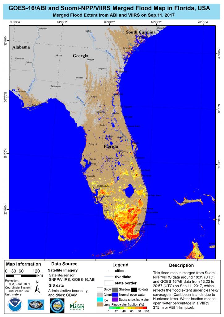 This Is A Flood Map From Hurricane Irma. | Drone Surveys Damage - Fema Maps Florida