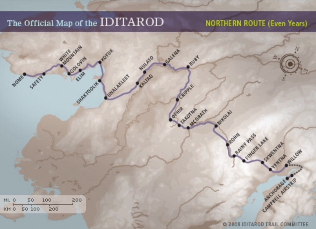 This Is A Map Of The Iditarod Trail! Good Luck To All The - Printable Iditarod Trail Map