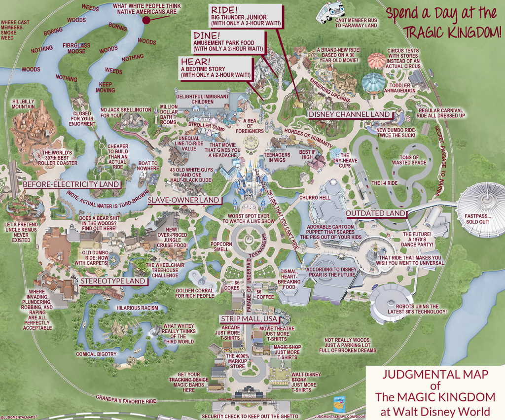 This 'judgmental Map' Of Magic Kingdom Is Pretty Accurate | Blogs - Animal Kingdom Florida Map