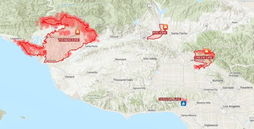 This Map Shows How Big And Far Apart The 4 Major Wildfires Are In - Fires In California 2017 Map