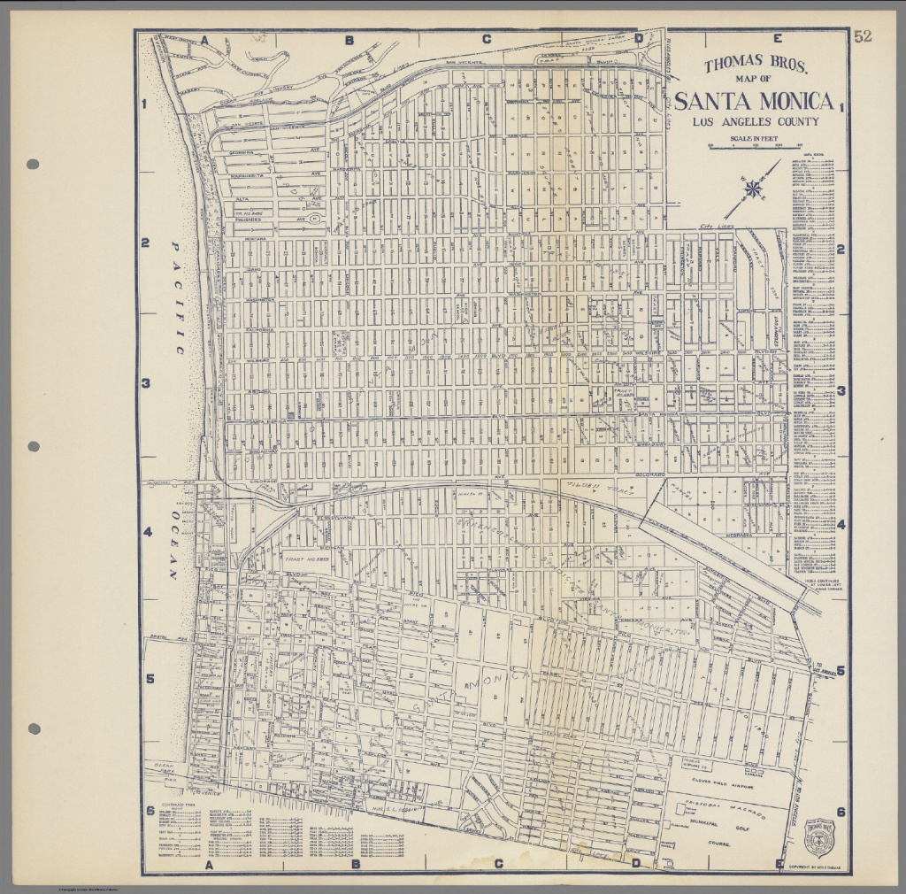Thomas Bros. Map Of Santa Monica, Los Angeles County, California - Thomas Bros Maps California