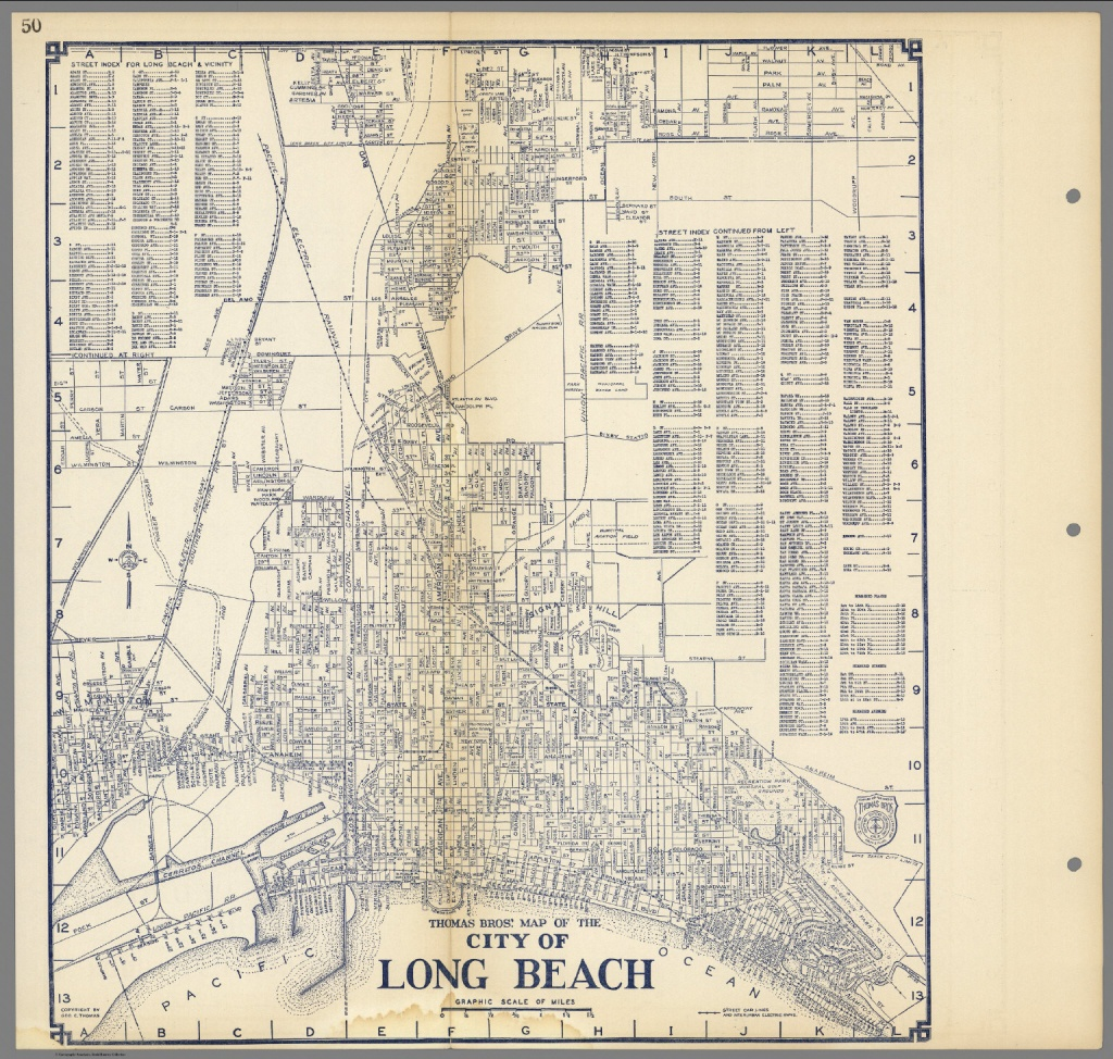 Thomas Bros'. Map Of The City Of Long Beach, California. - David - Thomas Bros Maps California