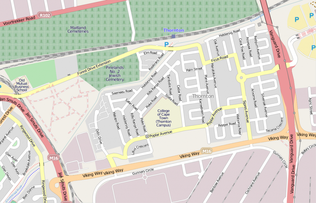 Thornton, Cape Town - Wikipedia - Printable Street Map Of Llandudno