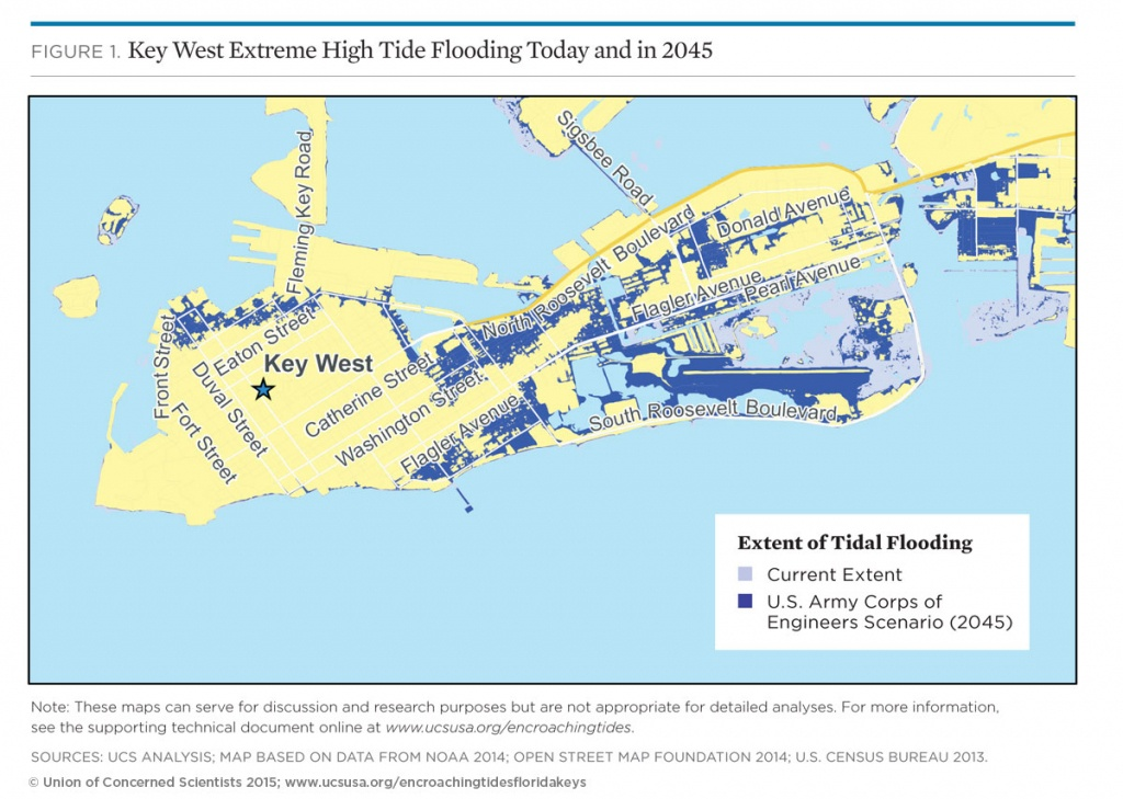 Tidal Flooding And Sea Level Rise In The Florida Keys (2015) | Union - Florida Global Warming Flood Map