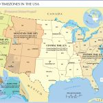 Time Zone Map Of The United States   Nations Online Project   Printable North America Time Zone Map