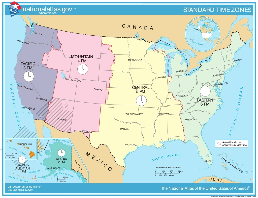 Time Zone Map Of Usa Awesome Printable Map United States Time Zones - Printable Time Zone Map With States